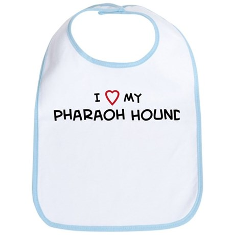 I Love Pharaoh Hound Bib