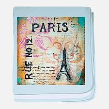 Shabby Chic Paris baby blanket