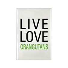 Live Love Orangutans Rectangle Magnet