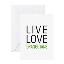 Live Love Orangutans Greeting Card