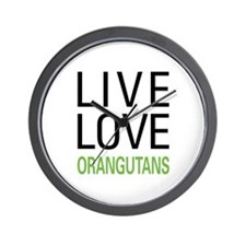 Live Love Orangutans Wall Clock