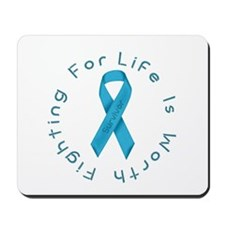 LightBlue Ribbon - Survivor Mousepad