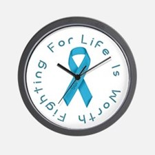LightBlue Ribbon - Survivor Wall Clock