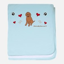 labradoodle chocolate baby blanket