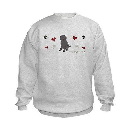labradoodle black Kids Sweatshirt