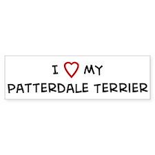 I Love Patterdale Terrier Bumper Bumper Sticker