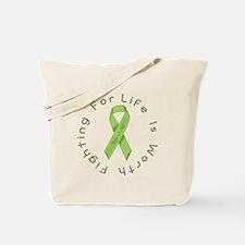 Lime Ribbon - Survivor Tote Bag