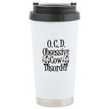 Obsessive Cow Disorder Travel Coffee Mug