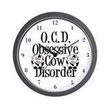 Ocd cow Wall Clocks