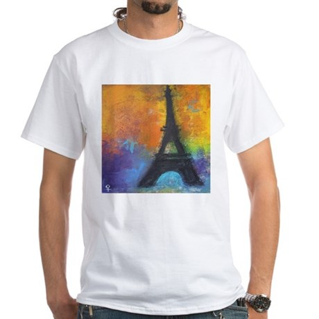ABSTRACT EIFFEL TOWER White T-Shirt