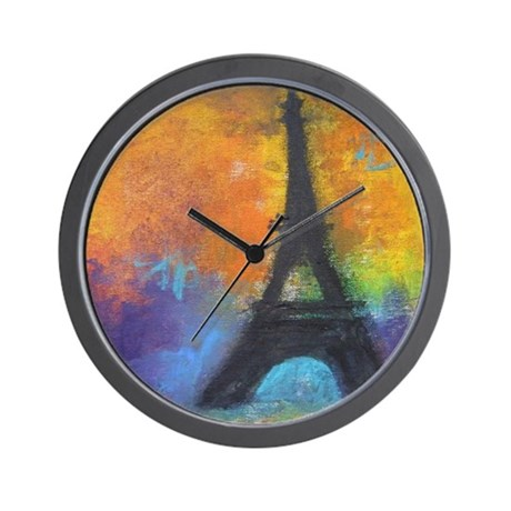 ABSTRACT EIFFEL TOWER Wall Clock
