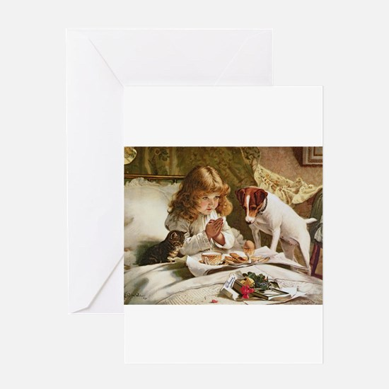 Suspense by Charles Burton Barber Greeting Cards