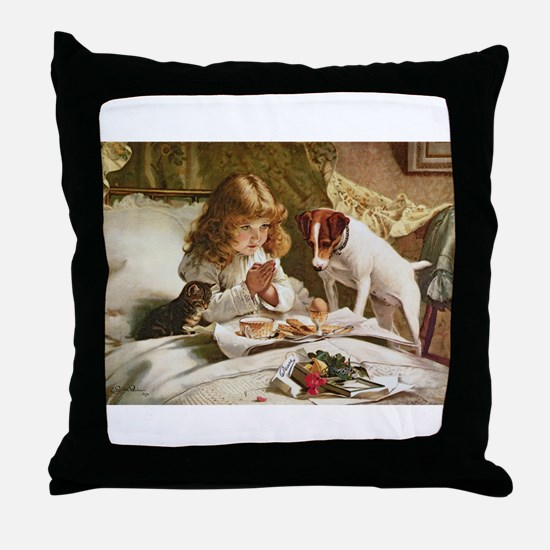 Cute Breakfast Throw Pillow
