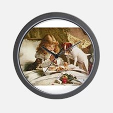 Funny Russell terrier Wall Clock