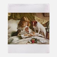 Cute Russell terrier Throw Blanket