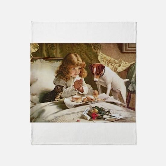 Cute Russell terrier Throw Blanket
