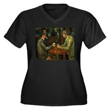 Unique Cezanne Women's Plus Size V-Neck Dark T-Shirt