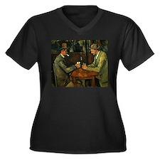 Unique Post impressionism Women's Plus Size V-Neck Dark T-Shirt