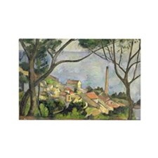 Unique Post impressionist Rectangle Magnet (10 pack)