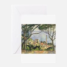 The Sea at lEstaque by Paul Cezanne Greeting Cards