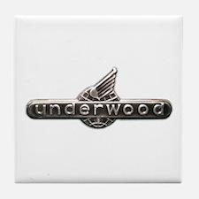 Underwood typewriter logo Tile Coaster