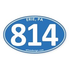 Blue Erie, PA 814 Decal