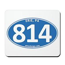 Blue Erie, PA 814 Mousepad