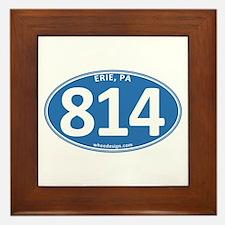 Blue Erie, PA 814 Framed Tile