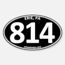 Black Erie, PA 814 Sticker (Oval)