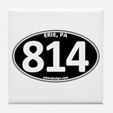 Black Erie, PA 814 Tile Coaster