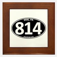 Black Erie, PA 814 Framed Tile