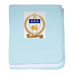 LAFORGE Family Crest baby blanket