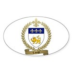 LAFORGE Family Crest Sticker (Oval)