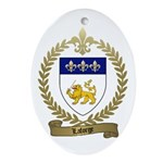 LAFORGE Family Crest Ornament (Oval)