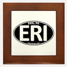 Black Oval ERI Framed Tile