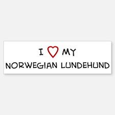 I Love Norwegian Lundehund Bumper Bumper Bumper Sticker
