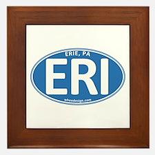 Blue Oval ERI Framed Tile