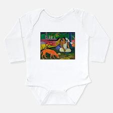 Cute Post impressionism Long Sleeve Infant Bodysuit