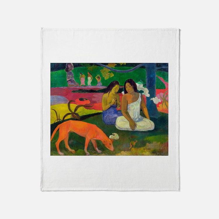Cute Post impressionism Throw Blanket