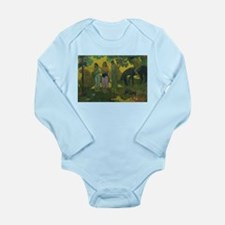 Cute Post impressionism Long Sleeve Infant Bodysuit
