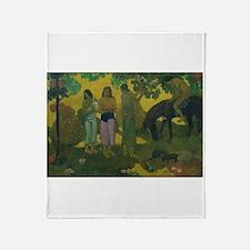 Unique Post impressionism Throw Blanket