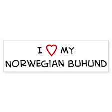 I Love Norwegian Buhund Bumper Bumper Sticker