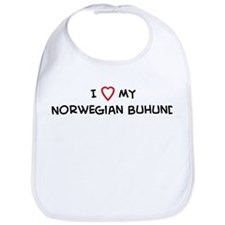 I Love Norwegian Buhund Bib