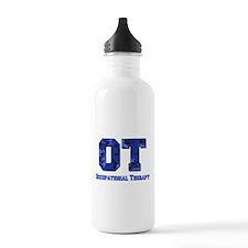 Blue camo Sports Water Bottle