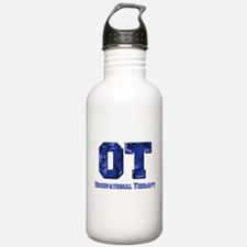 Blue camo Sports Water Bottle