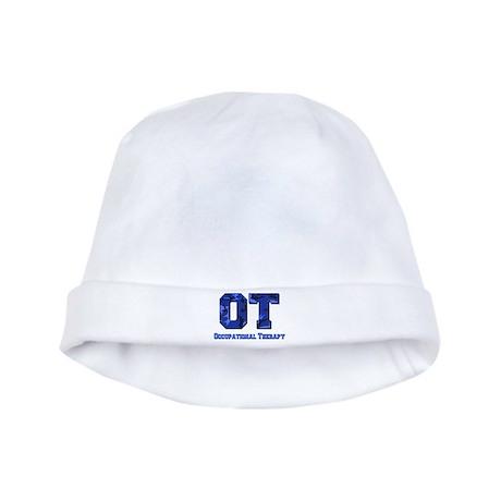 Blue camo baby hat