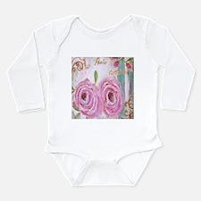 PARIS ROSES Long Sleeve Infant Bodysuit