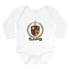 LAVIGNE Family Crest Long Sleeve Infant Bodysuit