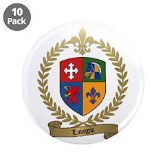 "LAVIGNE Family Crest 3.5"" Button (10 pack)"