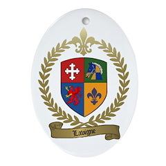 LAVIGNE Family Crest Ornament (Oval)